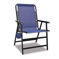 XL Suspension Folding Chair, Blue
