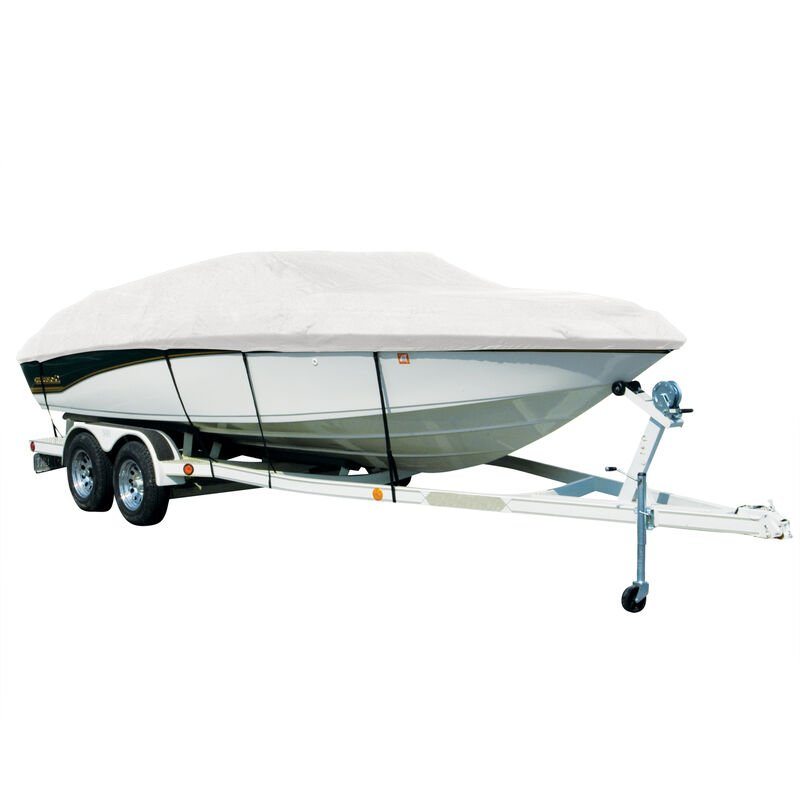Exact Fit Covermate Sharkskin Boat Cover For TAHOE Q3 w/MOTOR GUIDE TROLL MOTOR image number 1