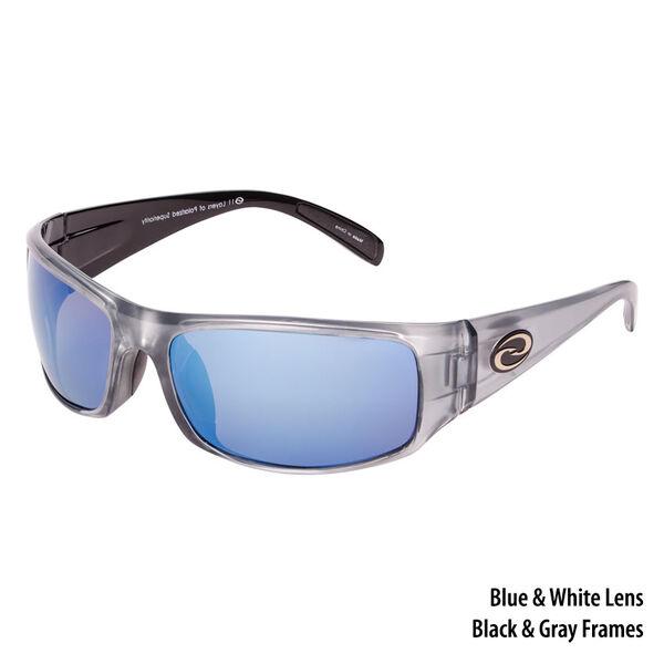 Strike King S11 Okeechobee Sunglasses - Gray-Black Frame/White-Blue Mirror Lens