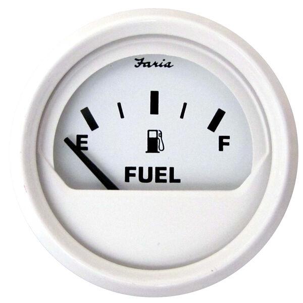 "Faria 2"" Dress White Series Fuel Level Gauge"