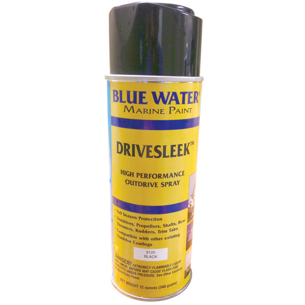 Blue Water Drivesleek Outdrive Aerosol, Black