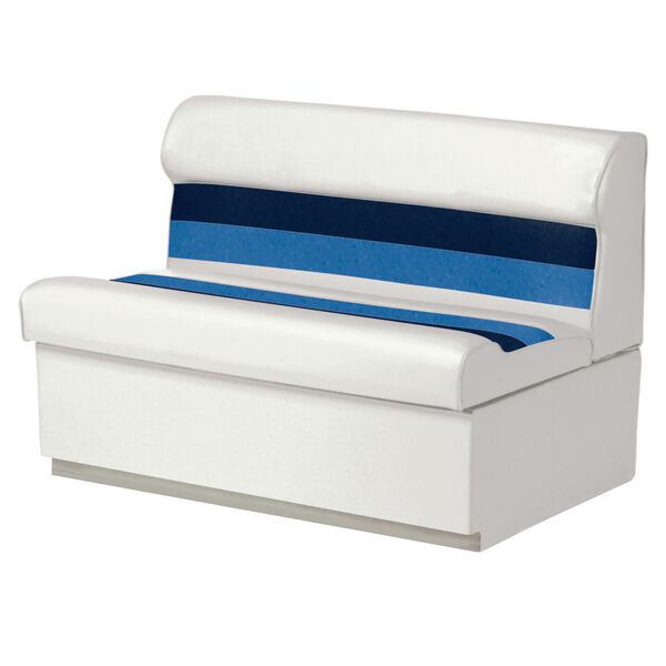 "Toonmate Deluxe Pontoon 55"" Wide Lounge Seat with Toe Kick Base, White"