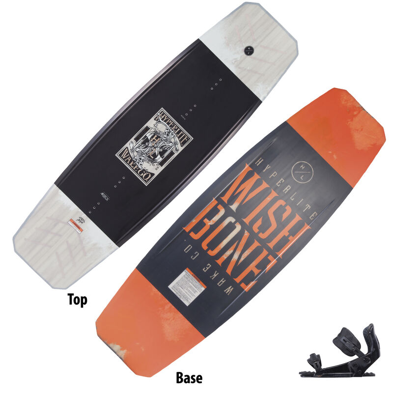 Hyperlite Wishbone Wakeboard With System Pro Bindings image number 1