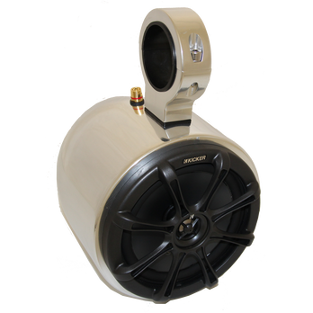 "Monster Tower Kicker Single Barrel Speaker With 2.5"" Inserts, Aluminum"