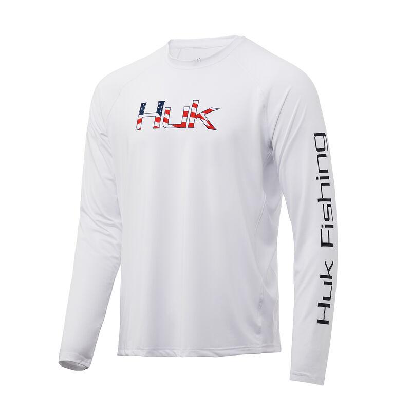 HUK Men's Americana Fill Pursuit Long-Sleeve Tee image number 1