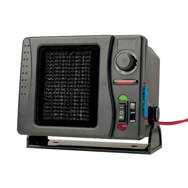 RoadPro 12V Direct Hook-Up Ceramic Heater/Fan With Swivel Base