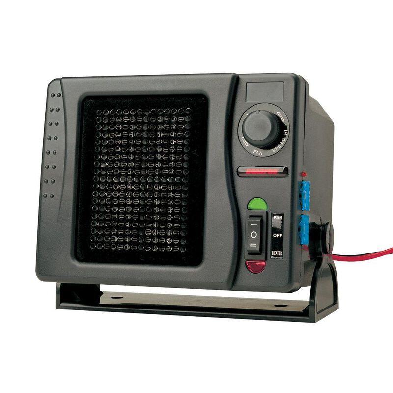 RoadPro 12V Direct Hook-Up Ceramic Heater/Fan With Swivel Base image number 1