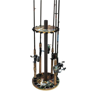 Rush Creek Creations Bass 16-Rod Round Rack