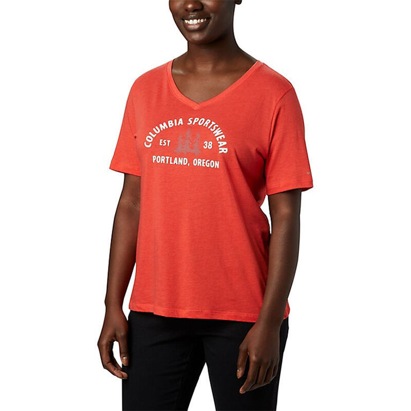 Columbia Women's Mount Rose Relaxed-Fit Short-Sleeve Tee image number 1