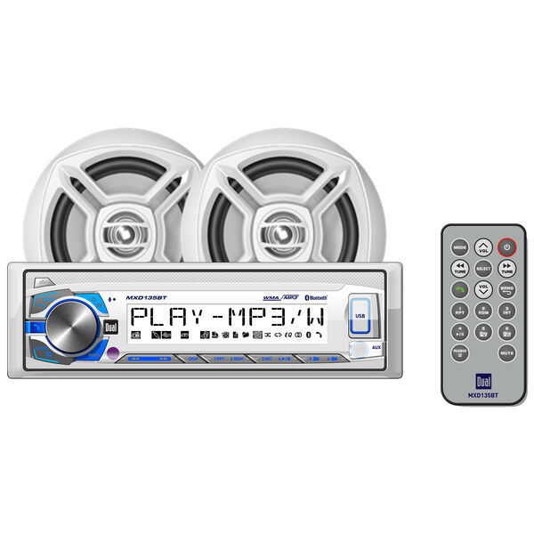 """Dual MCP135BT Digital Media Receiver With Bluetooth And 6.5"""" Dual Cone Speakers"""