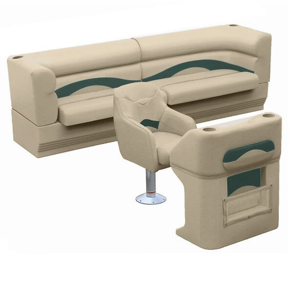 Toonmate Premium Pontoon Furniture Package, Complete Classic Rear Seat Group