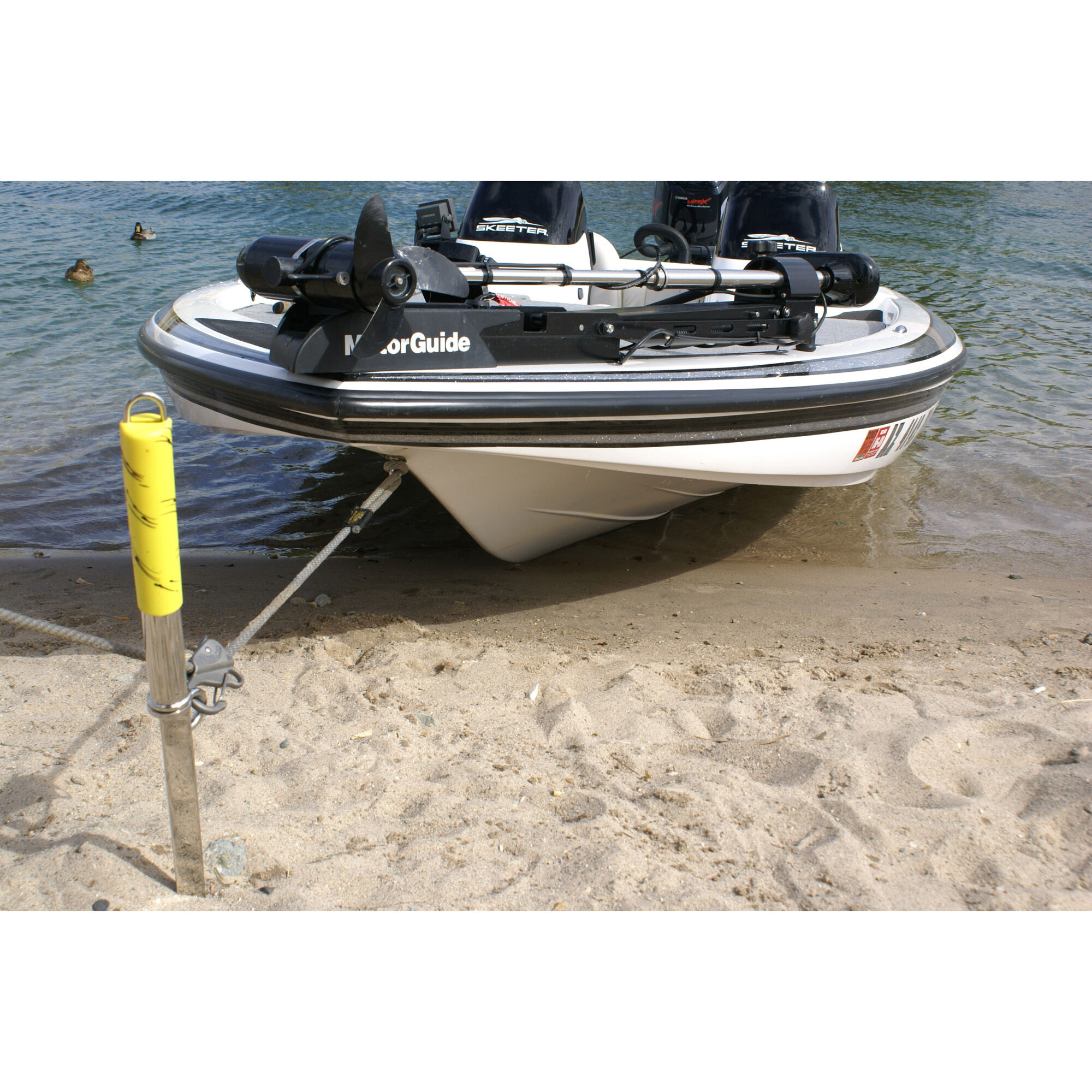 BOAT MARINE ANCHOR PWC SAND TABS AUGER WITH ALUMINUM HOOK SHOCK CORD SUP