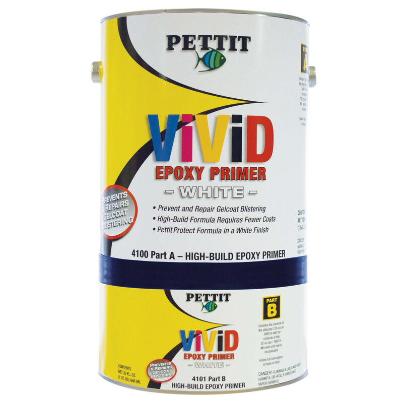 Pettit White Protect High Build, Gallon image number 1