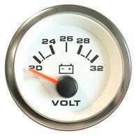 "Sierra 2"" White Premier Pro Voltmeter"