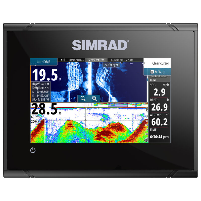 Simrad GO5 XSE Fishfinder Chartplotter With TotalScan Transducer And Insight USA image number 5