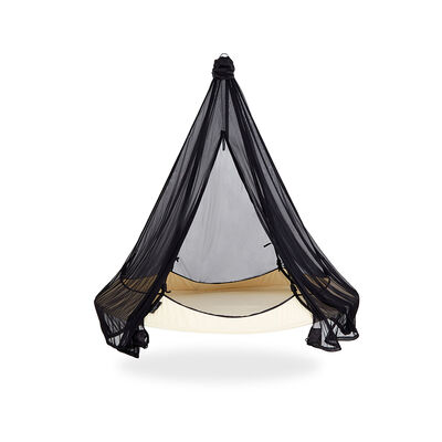 Black Hangout Pod Hammock Mosquito Net