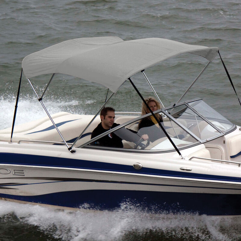"""Shademate Polyester 3-Bow Bimini Top, 5'L x 32""""H, 54""""-60"""" Wide image number 9"""