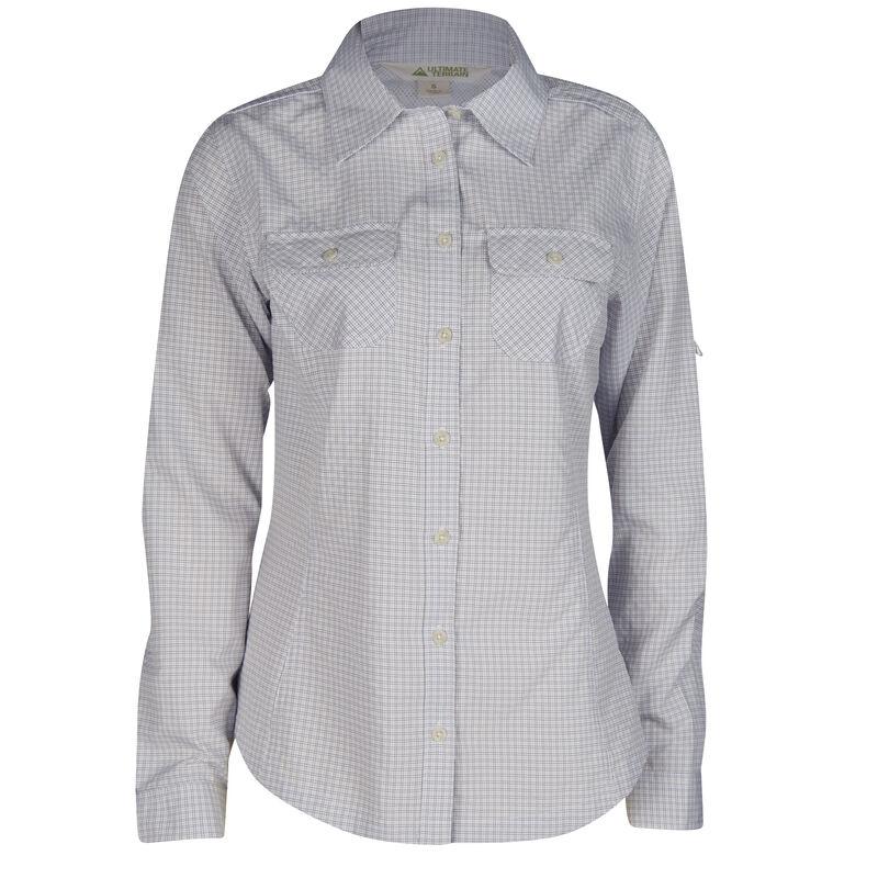 Ultimate Terrain Women's Trailhead Bug Repel Long-Sleeve Plaid Shirt image number 7