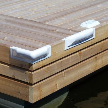 "Dock Pro Corner Dock Bumper, 10"" x 10"""