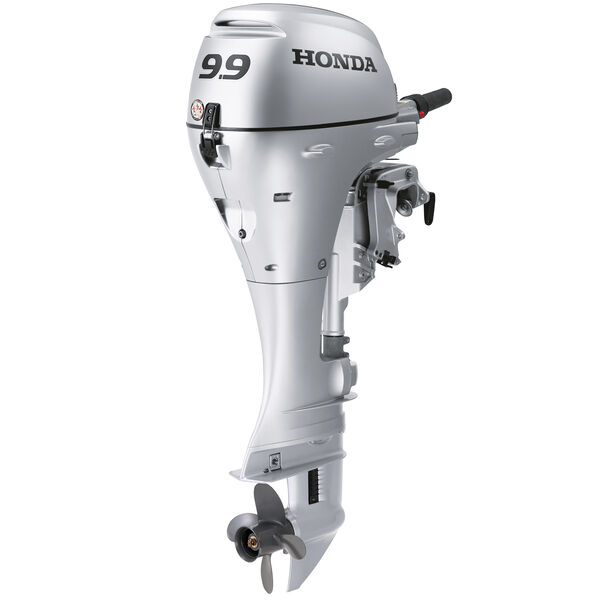 "Honda BFP9.9 Power Thrust Portable Outboard Motor, Electric Start 9.9HP 25""Shaft"