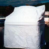 "Vinyl Center Console Cover Large White 45""H x 46""W x 40""D"