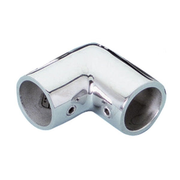 Whitecap 90° Elbow Rail Fitting, Stainless Steel