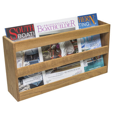 SeaForce Teak Double-Wide Magazine Rack