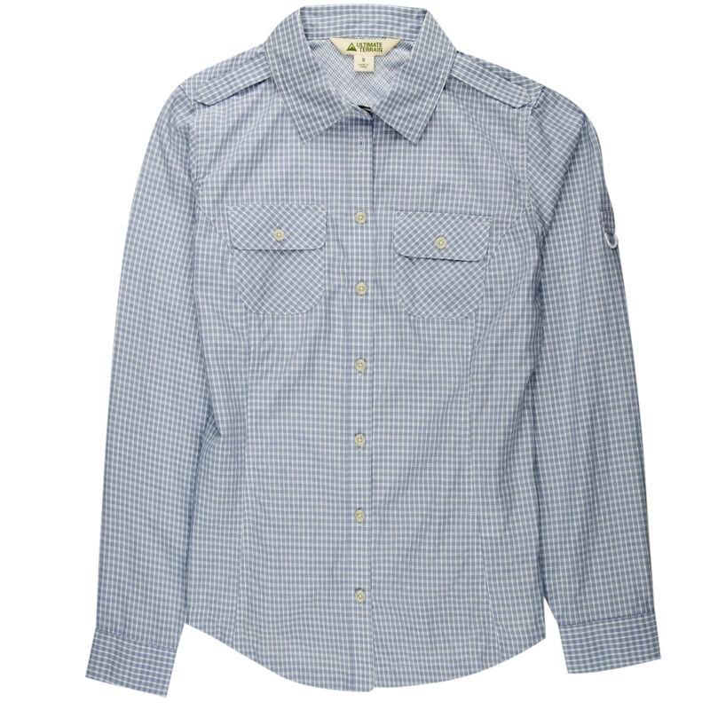 Ultimate Terrain Women's Trailhead Bug Repel Long-Sleeve Plaid Shirt image number 18