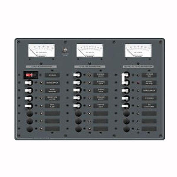 Blue Sea AC Main/DC Main Toggle Circuit Breaker Panel, Model 8084