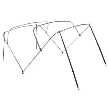 "Shademate Bimini Top 4-Bow Aluminum Frame Only, 8'L x 42""H, 54""-60"" Wide"