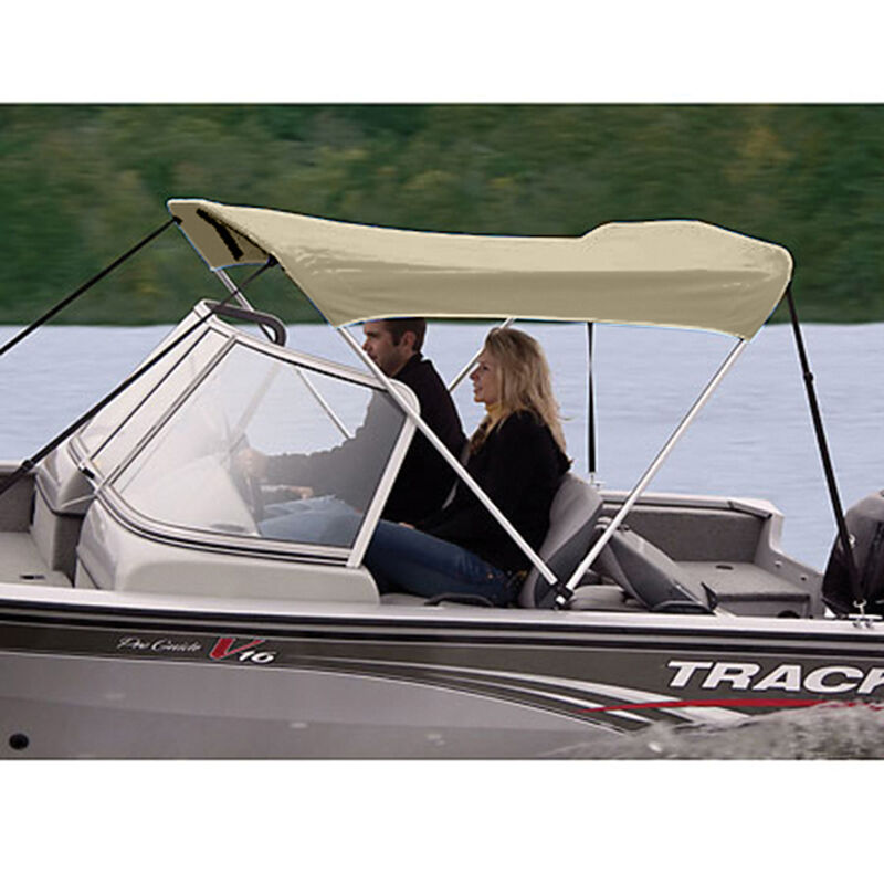 """Shademate Polyester 2-Bow Bimini Top, 5'6""""L x 42""""H, 61""""-66"""" Wide image number 7"""