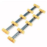 Tie Down 4' Hull Sav'r Roller Bunks, yellow polyurethane, pair