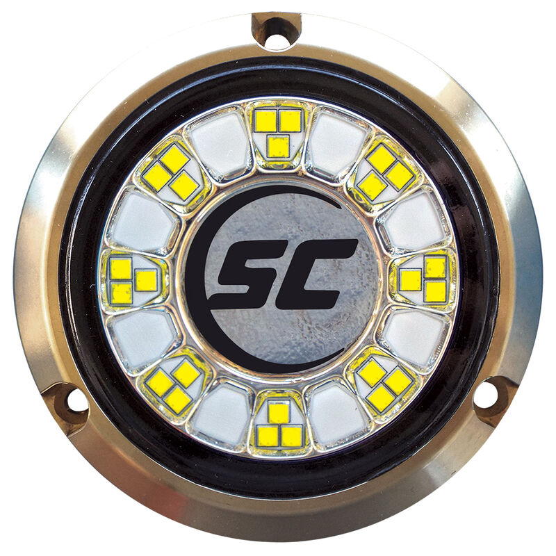 Shadow-Caster Single-Color Bronze Underwater Light – 24 LEDs, Great White image number 1