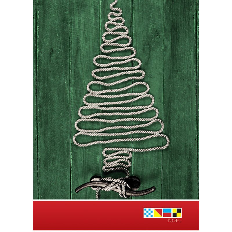 Christmas Tree Rope Christmas Cards image number 1