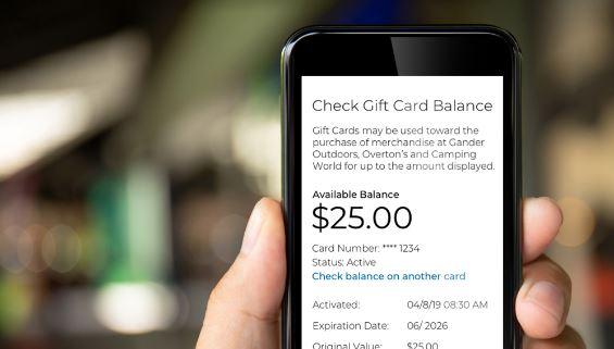 Check Gift Card Balance