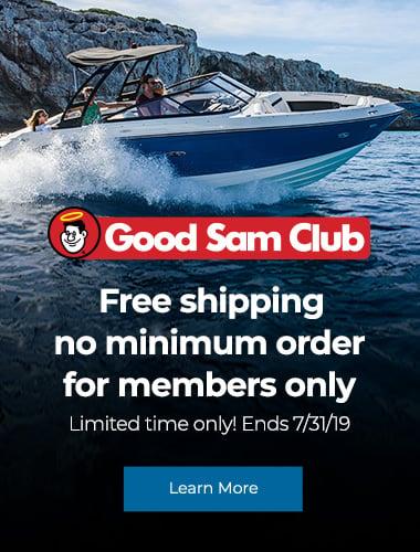 Free standard shipping for Good Sam Club members, no minimum