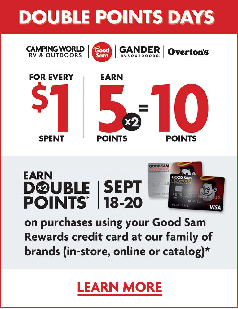 Good Sam Rewards Visa Card Double Points Days