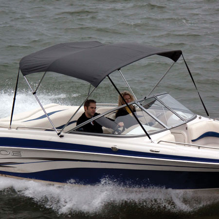 Shademate Polyester Stainless 3-Bow Bimini Top 5'L x 32''H 85''-90'' Wide