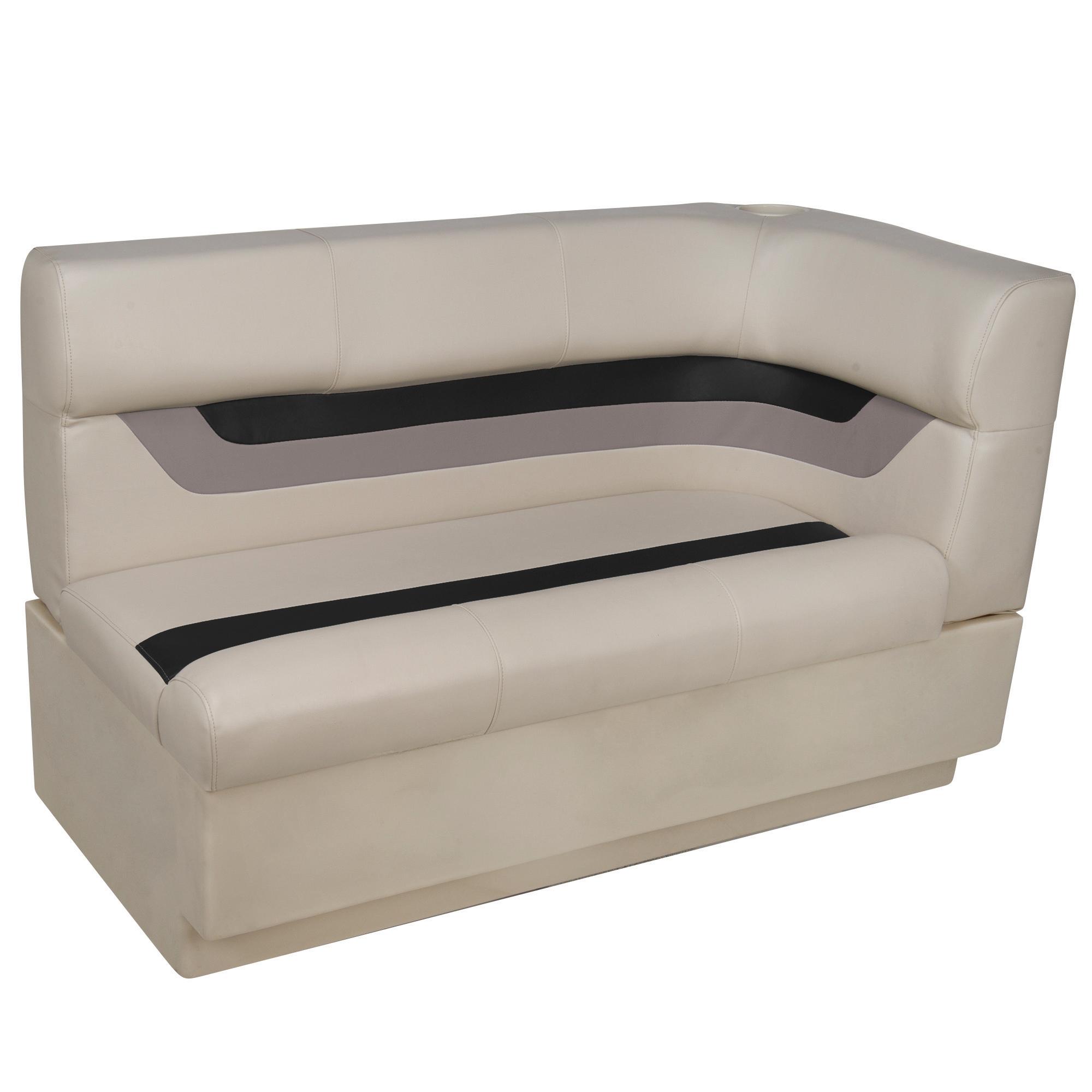 Toonmate Designer Pontoon Left-Side Corner Couch - TOP ONLY - Platinum/Black/Mocha