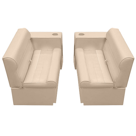 Deluxe Pontoon Furniture w/Toe Kick Base - Front Group 5 Package, Sand