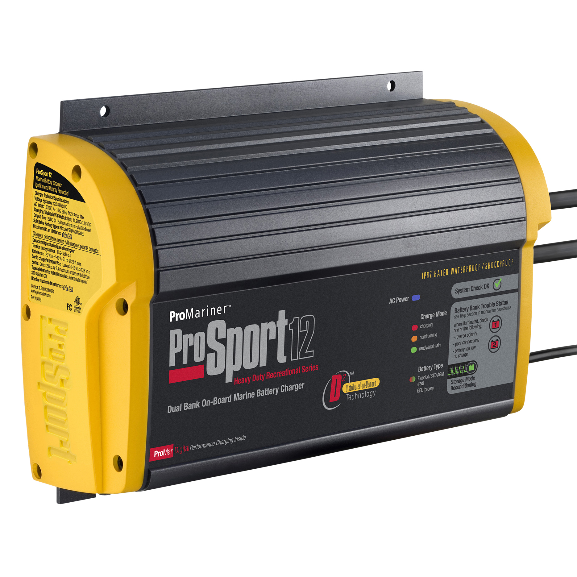 ProMariner Next Generation ProSport 12 PFC Battery Charger
