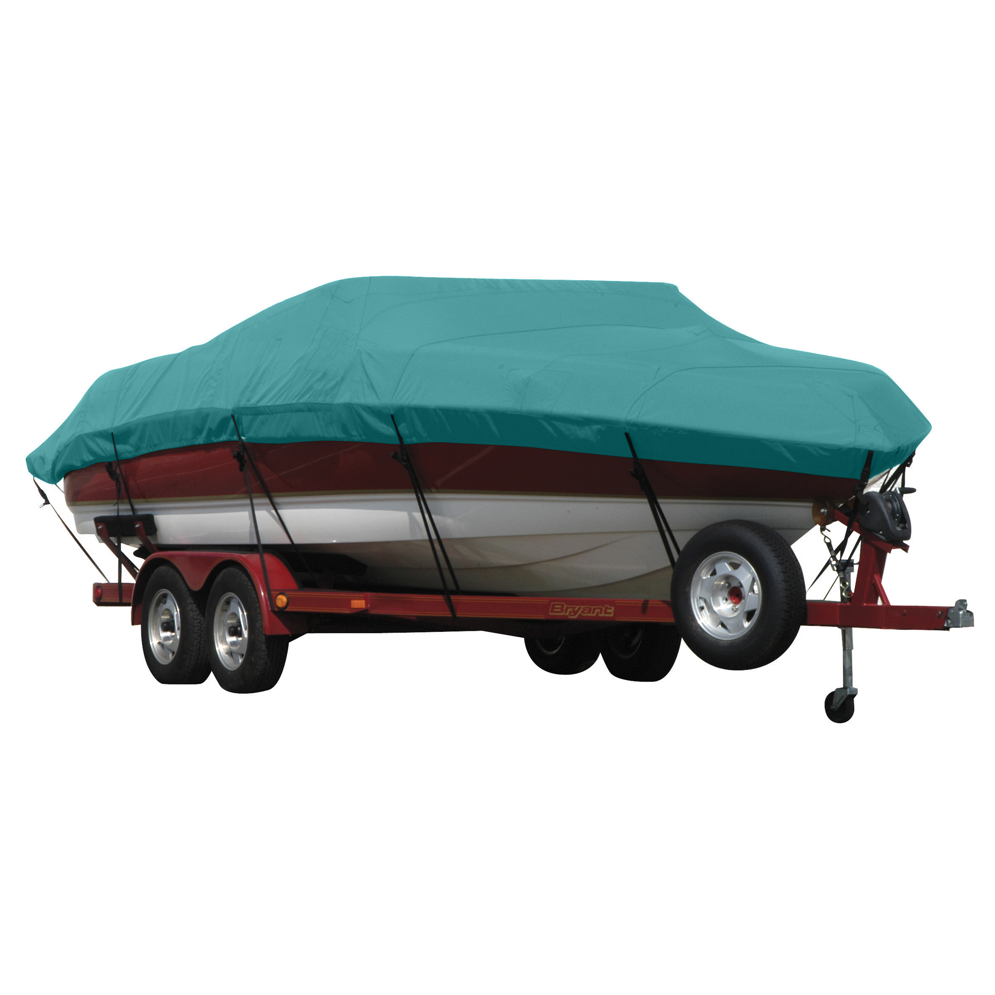 Exact Fit Covermate Sunbrella Boat Cover for Princecraft Super Pro 176 Super Pro 176 Fish N Promenade W/Ski Rope Guard O/B. Aqua