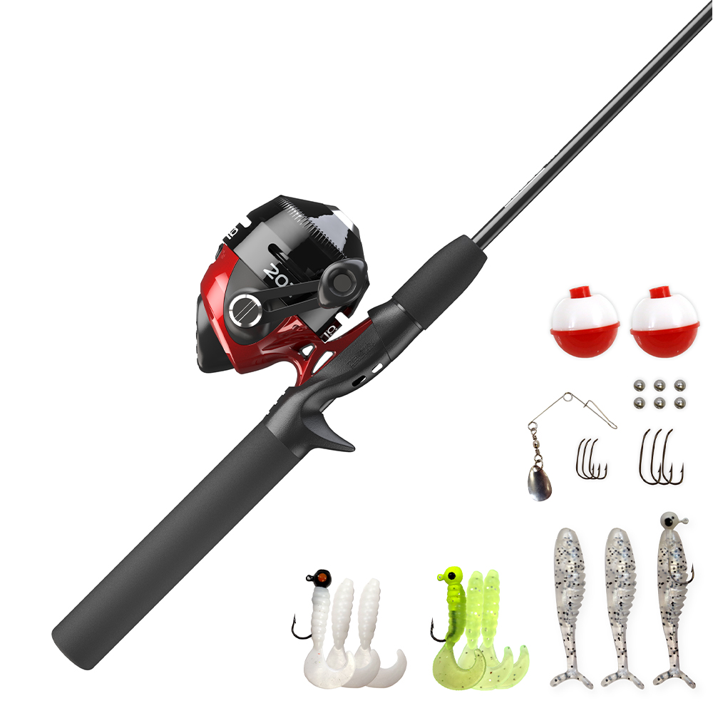 Zebco 202 5'6″ Spincast Rod And Reel Combo