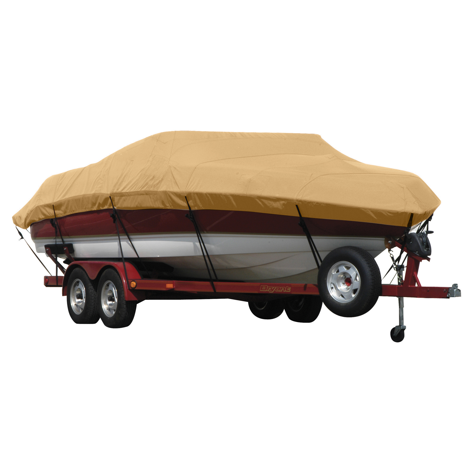 Exact Fit Covermate Sunbrella Boat Cover for Princecraft Super Pro 176 Super Pro 176 Fish N Promenade W/Ski Rope Guard O/B. Toast