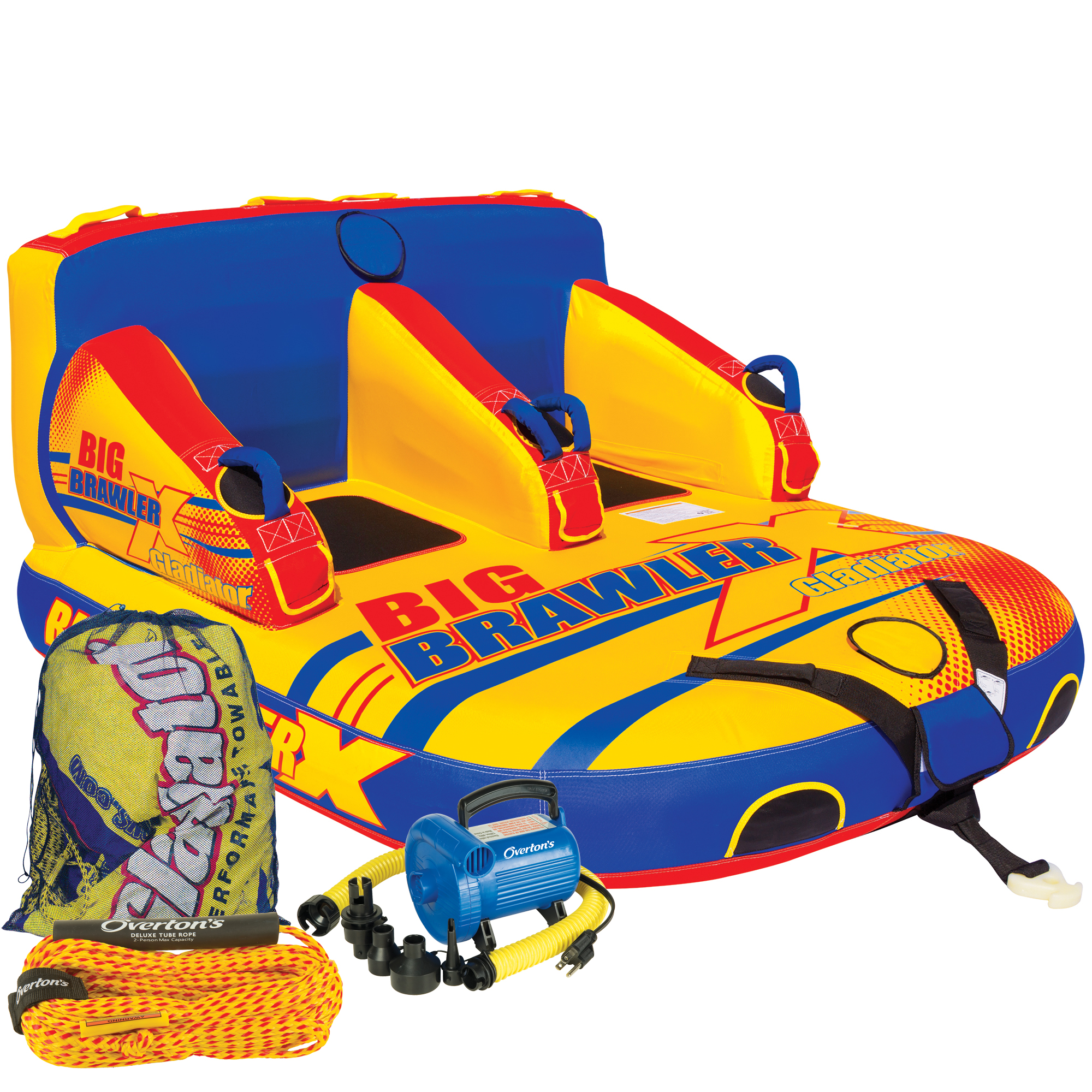 Gladiator Big Brawler X 2-Person Towable Tube Package