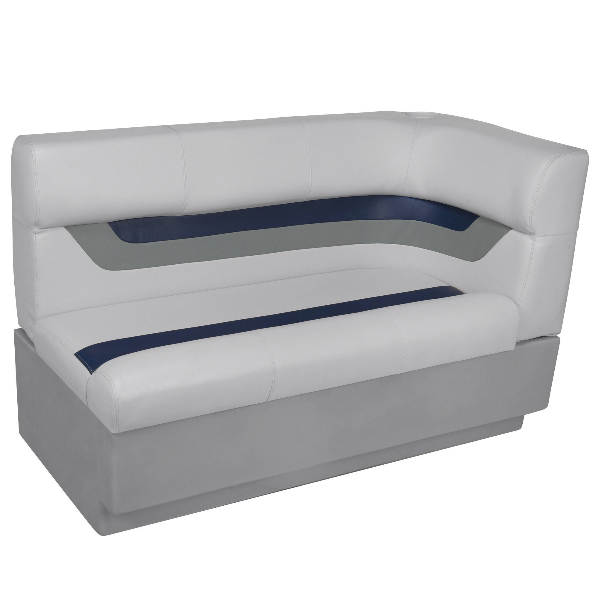 Toonmate Designer Pontoon Left-Side Corner Couch - TOP ONLY - Sky Gray/Navy