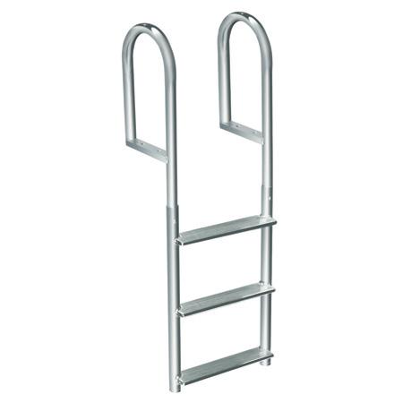 International Dock Wide-Step Stationary Dock Ladder, 7-Step