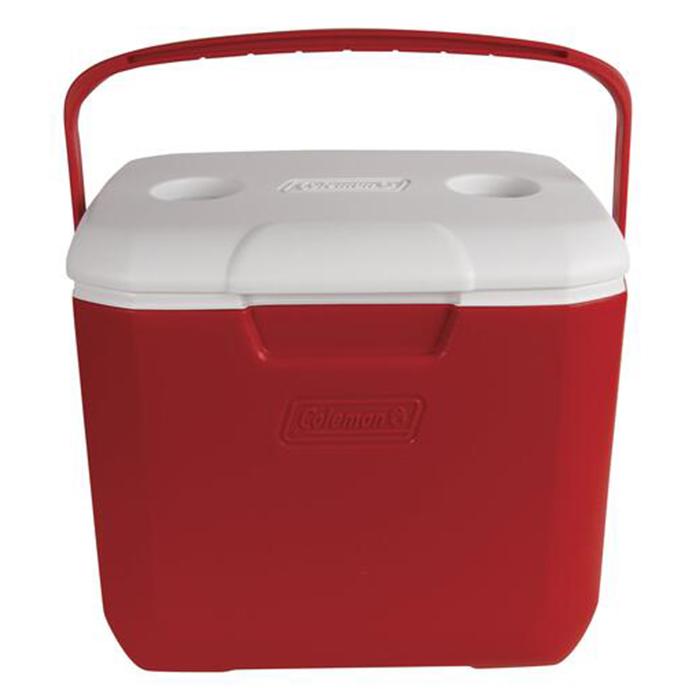 Coleman 30 Quart Excursion Cooler, Red