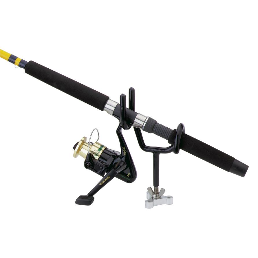 Attwood Sure Grip Steel Drifting/Trolling Fishing Rod Holder, 4″ stem, 25° angle