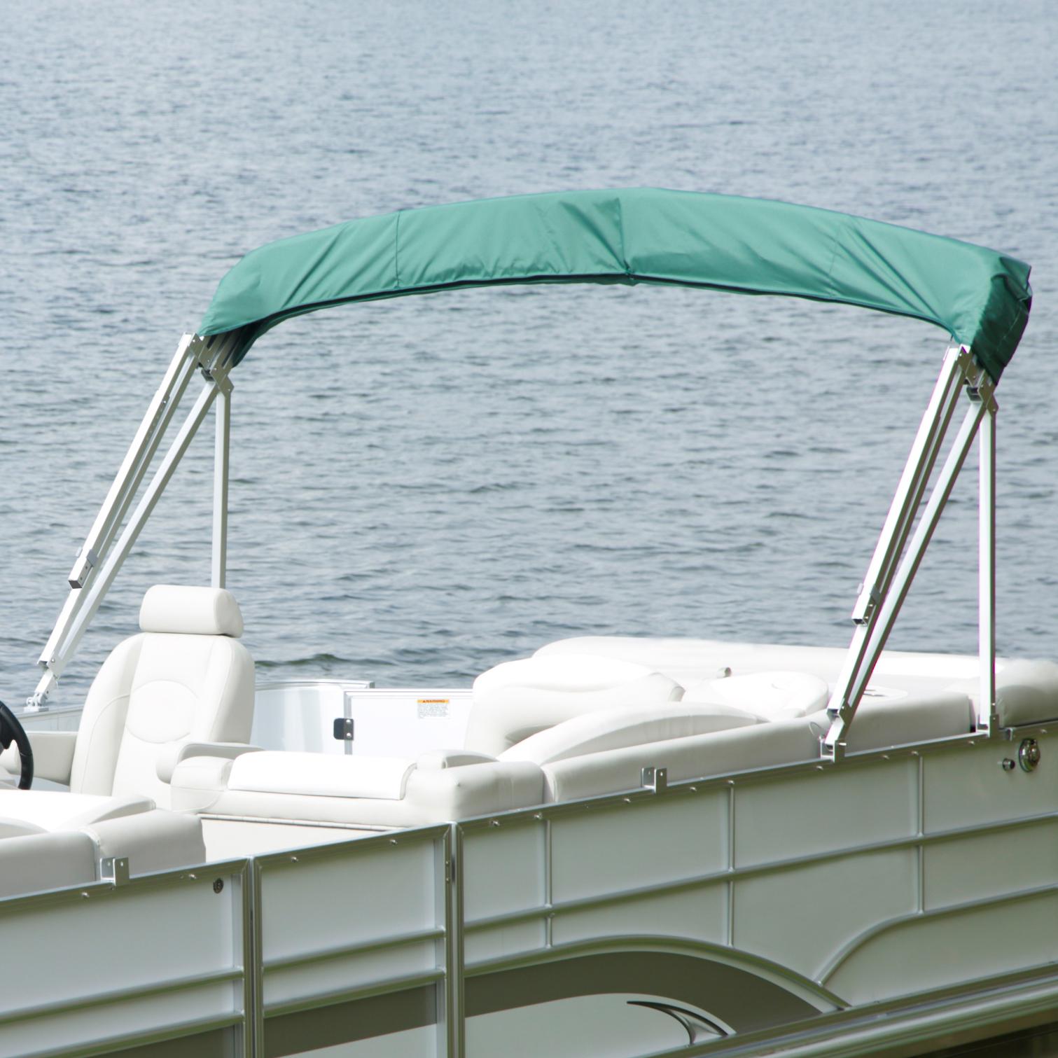 "Buggy Style Pontoon Bimini Top, SurLast Polyester, 1"" Standard Frame, 90""-96""W"